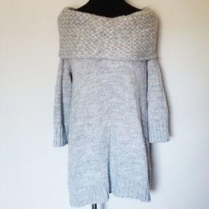 Fenn Wright Manson Gray Knit Part Wool Sweater